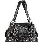 LANY Skull Rhinestone Black Shoulder Handbag