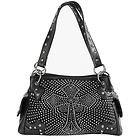 LANY Cross Rhinestone Black Shoulder Handbag