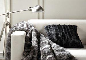 Faux Fur Indulgence: Throws & Pillows