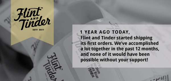 Check out some amazing facts and figures about Flint and Tinder's first 365 days: