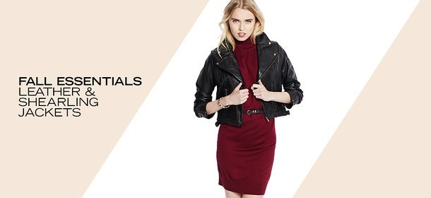FALL ESSENTIALS: LEATHER & SHEARLING JACKETS, Event Ends September 29, 4:00 PM PT >