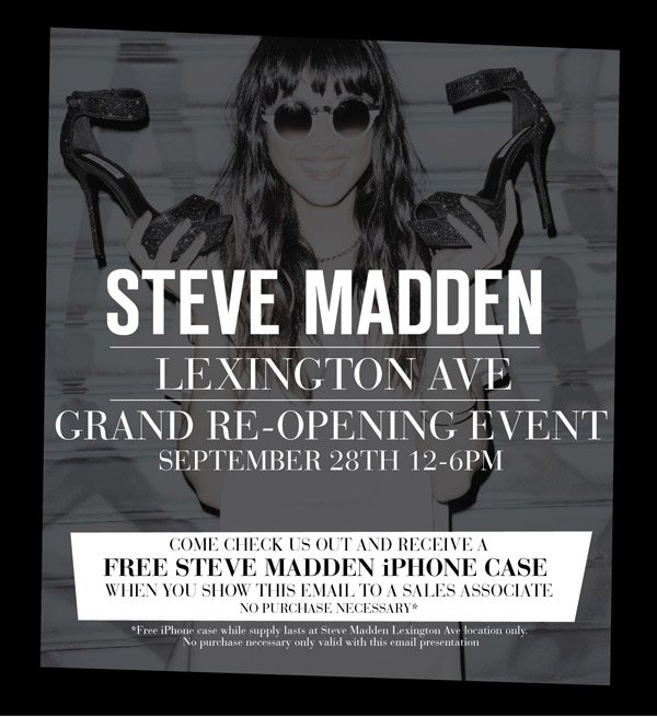 Come Celebrate our Lexington Avenue Grand Re-opening Event