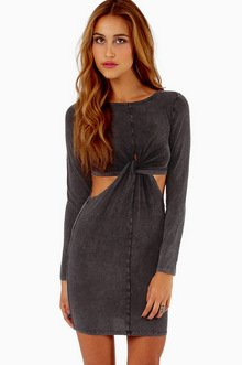 NODDED FRONT BODYCON DRESS 37