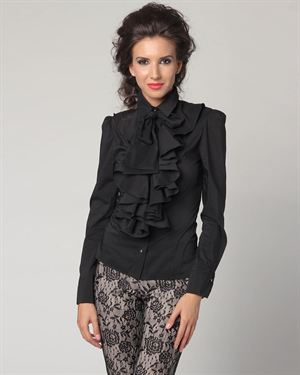 Isabel Queen Ruffle Embellished Shirt Made In Italy