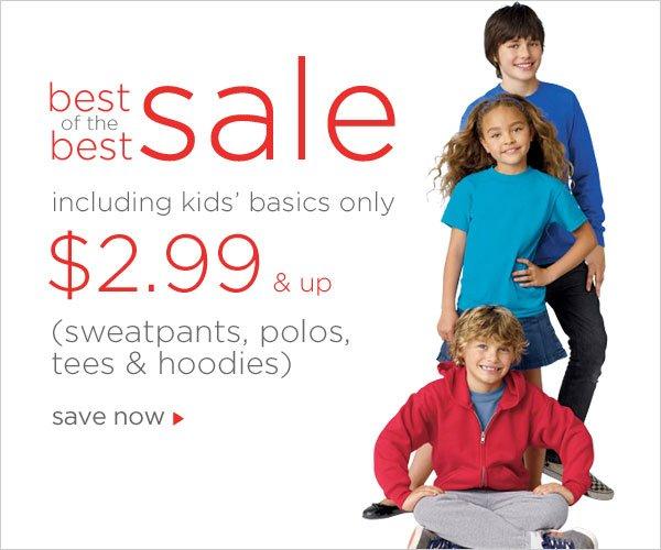 Kids Basics as low as $2.99