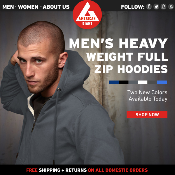 Men's Full Zip Hoodies: Two New Colors!