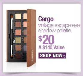 Cargo. Vintage Escape Eye Shadow Palette $20. A $140 Value. Shop Now.