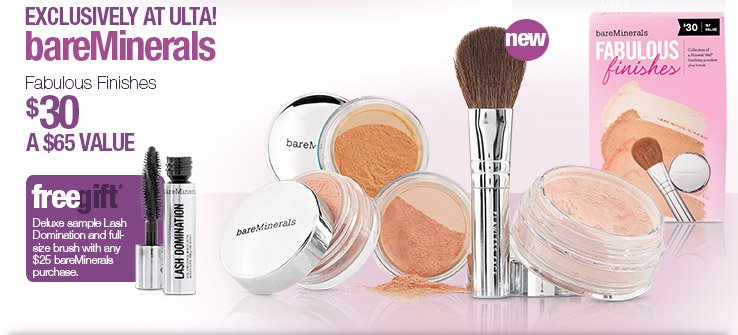 Exclusively at Ulta. bareMinerals. Fabulous Finishes Kit $30. A $65 Value. Shop Now.