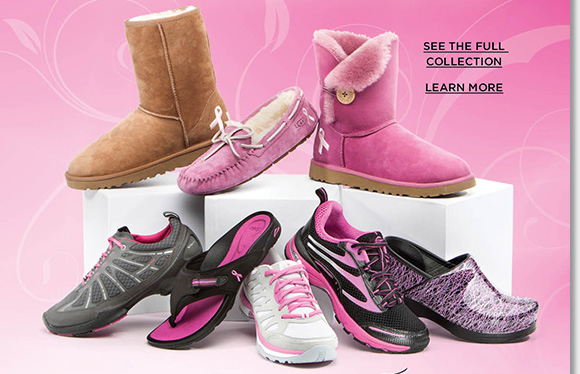 Introducing the NEW 2013 Pink Ribbon Collection! Join the fight against cancer and show your support for City of Hope and various charities in exclusive pink ribbon styles from UGG® Australia, Dansko, ECCO, ABEO & more. Shop now and enjoy FREE 2nd Day Shipping at The Walking Company.*