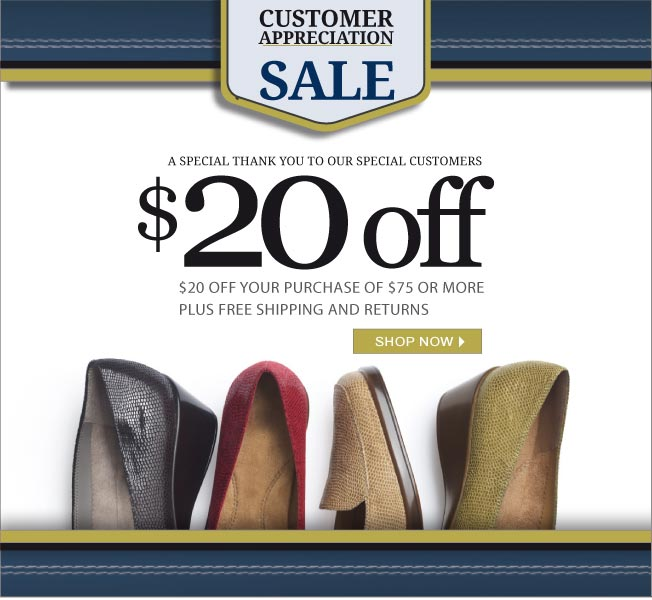 $20 off $75! Customer Appreciation Sale!