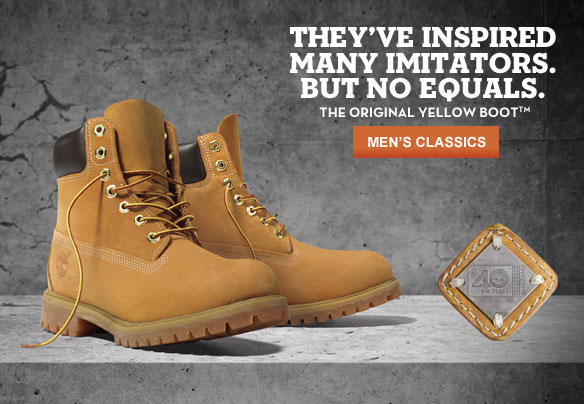 They've Inspired Many Imitators. But No Equals. The Original Yellow Boot™. Shop Men's Classics.