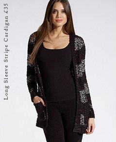 Long Sleeve Stripe Cardigan
