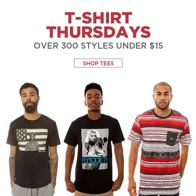 Over 300 Styles Under $15! Shop Tees!