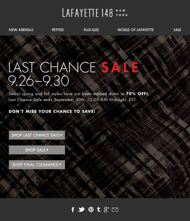Last Chance Sale! Now 70% Off!
