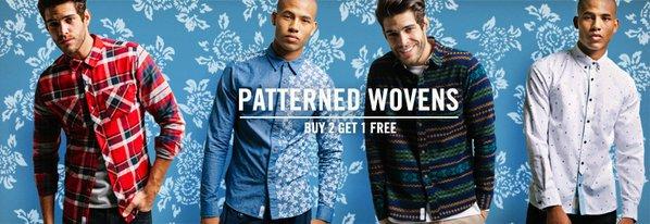 Shop Patterned Wovens ft. Bellfield