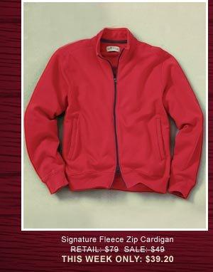 Signature Fleece Zip Cardigan  Retail: $79, Sale: $59, This Week Only: $39.20