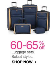 60-65% off Luggage sets. Select styles. SHOP NOW