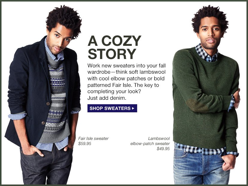 A COZY STORY | SHOP SWEATERS