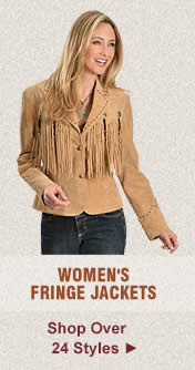 All Womens Fringe Jackets on Sale