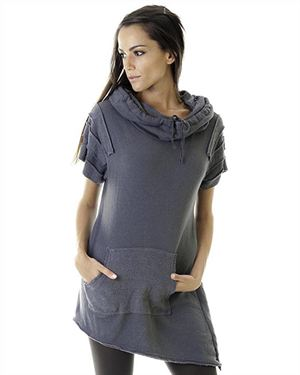 Goa Goa 100% Cotton Asymmetrical Hem Tunic Made In Italy