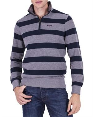 Galvanni 100% Cotton Striped Sweater Made In Europe