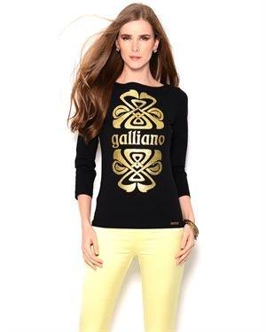 Galliano Glitter Print Cotton Shirt - Made in Europe