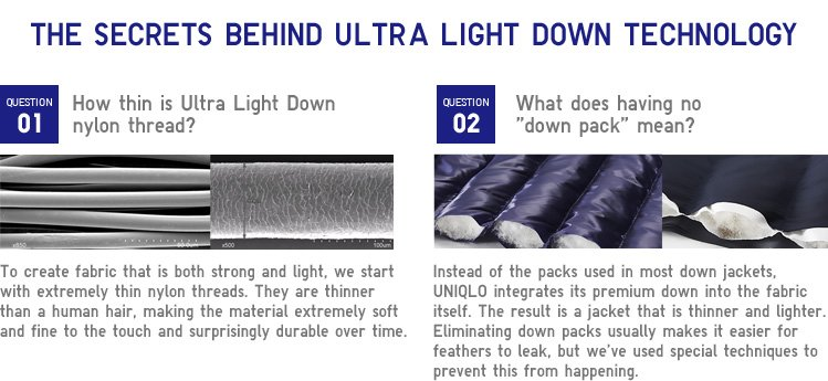 ULTRA LIGHT DOWN TECHNOLOGY