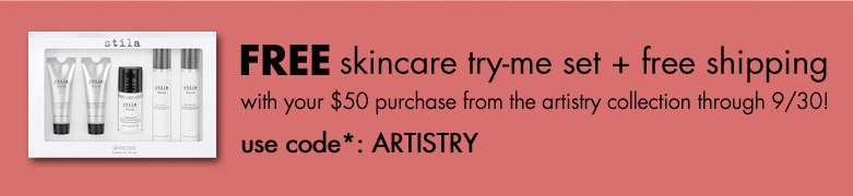 free skincare set + shipping use code: ARTISTRY