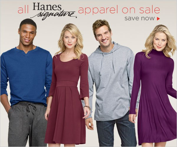 All Hanes Signature Apparel on Sale