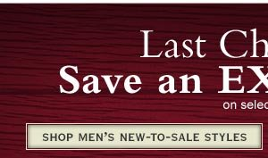 Shop Men's New-to-Sale Styles