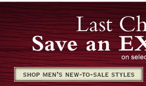 Shop Men's New-to-Sale Styles