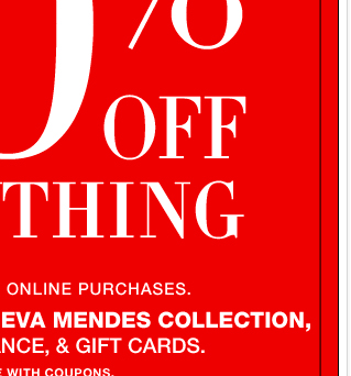 50% OFF EVERYTHING, in-store & online! Shop NOW!