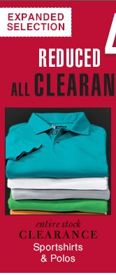 Reduced 40% - Clearance Sportshirts & Polos