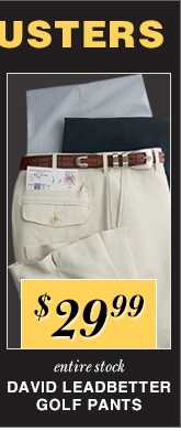$29.99 USD - David Leadbetter Golf Pants