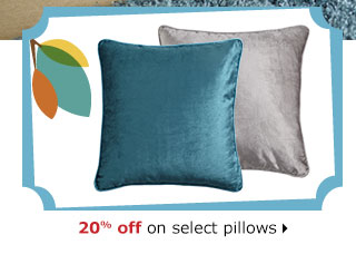 20% off on select pillows