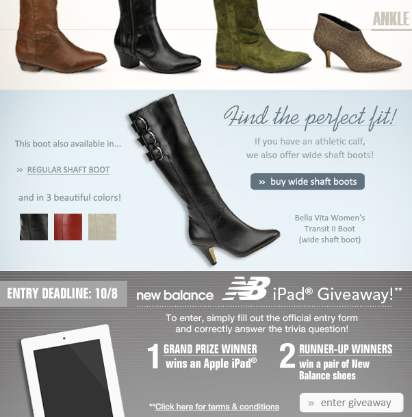 20% off boots!