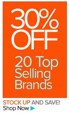 30% Off Our Top-Selling Brands