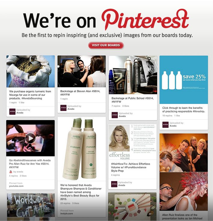 we're on pinterest. be the first to repin inspiring and exclusive images on our boards today. visit our boards