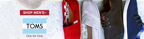 Shop Mens TOMS styles here.