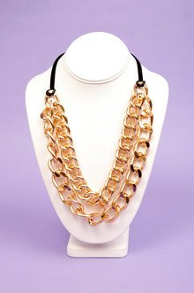 DOUBLE CHAIN CURB NECKLACE 7