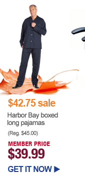 $42.75 sale - Harbor Bay boxed long pajamas - MEMBER PRICE $39.99 | GET IT NOW