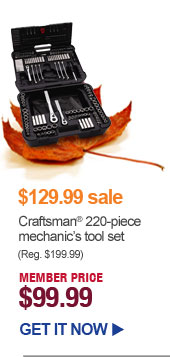 $129.99 sale - Craftsman 220-piece mechanic's tool set - MEMBER PRICE $99.99 | GET IT NOW