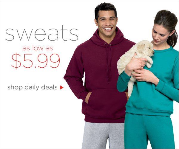 Sweats as low as $5.99