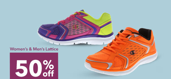 SHOP THE WOMEN & MEN'S CHAMPION® LATTICE - 50% off