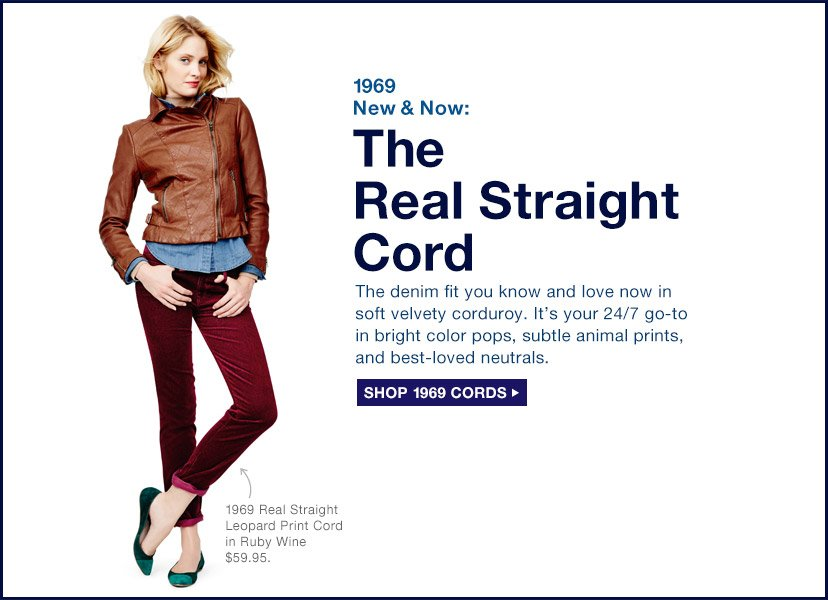 1969 New & Now: The Real Straight Cord + SHOP 1969 CORDS