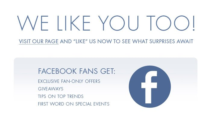 Like Us for Exclusive Offers