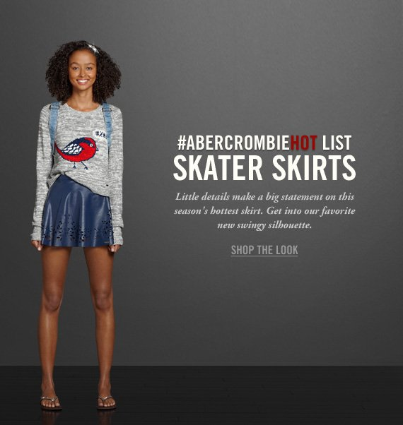 #ABERCROMBIEHOT LIST SKATER SKIRTS  SHOP THE LOOK