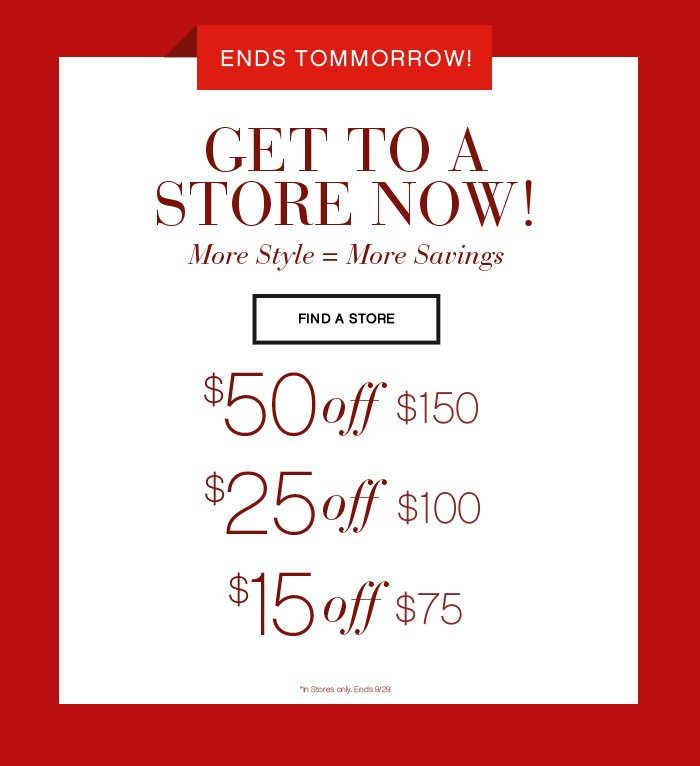 Ends Tomorrow - Get to a Store Now