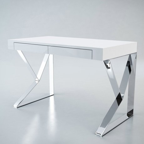 Houston Desk // White Lacquer