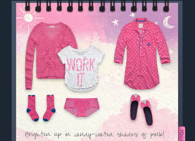 Brighten up in candy coated shades of pink!
